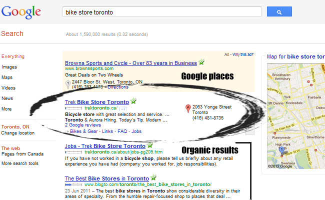 Google Places Local Results